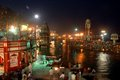 Haridwar march uttarakhand india asia an evening picture of the har ki pawri ghat at Royalty Free Stock Images