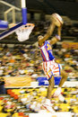 Harlem Globetrotters Basketball Action (Blurred) Royalty Free Stock Images