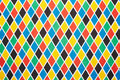 Harlequin colorful diamond pattern background texture Royalty Free Stock Image