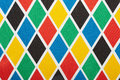 Harlequin colorful diamond pattern background texture Royalty Free Stock Images