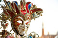 Harlequin mask in venice city of colorful masks Stock Photo