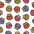 Harlequin owls Royalty Free Stock Images
