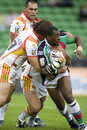 Harlequins RL v Catalan Dragons Stock Photos
