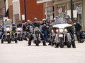 Harley Davidson Charity Riders Royalty Free Stock Photography