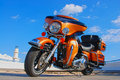 Harley  Davidson chopper Royalty Free Stock Photo