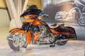 Harley davidson cvo street glide long beach ca november on display at the international motorcycle show Stock Photo