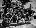 Harley davidson motorcycle on a street in dubrovnik Royalty Free Stock Photo