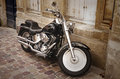 Harley davidson photo of on the street Stock Image