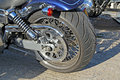 Harley davidson rear chunky wheel Stock Image