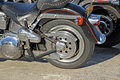 Harley davidson rear wheel Royalty Free Stock Photography