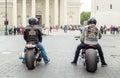 Harley Davidson riders Royalty Free Stock Photo