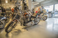 Harley davidson softail custom model fxstc photo is shot in an authorized shop in sarpsborg norway one day in Stock Image