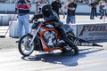Harley davidson drag bike Royalty Free Stock Photo
