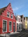 Harlingen Houses.2 Stock Afbeeldingen