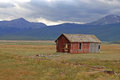 Harm house rocky mountains colorado farm in the coloado rockies Royalty Free Stock Image