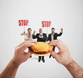 Harmful fast foods Royalty Free Stock Photo
