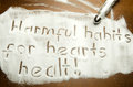 Harmful habits for hearts healt photo shot Royalty Free Stock Images