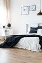 Harmonic minimal bedroom Royalty Free Stock Photo