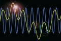 Harmonic waves diagram background