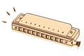 Harmonica vector Royalty Free Stock Photo