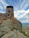 Harney Peak Fire Lookout Tower in Custer State Park in Black Hills of South Dakota Royalty Free Stock Photo