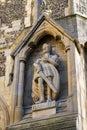 Harold Statue at Waltham Abbey Church Royalty Free Stock Photo