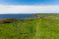 Haroldstone chins wales coast path pembrokeshire from near broad haven and st bride s bay druidstone haven in the Royalty Free Stock Image