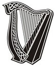 Harp icon Royalty Free Stock Photos