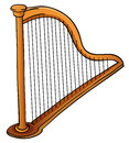Harp illustration of a on white Stock Image