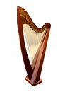 Harp on white isolated background eps Royalty Free Stock Image