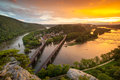 Harpers ferry national historic park sunset maryland heights was the sight of the largest surrender of federal troops in the civil Royalty Free Stock Photography