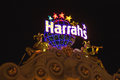 Harrah s hotel and casino sign in las vegas nevada usa october harrahs features over slot machines table games Stock Photo