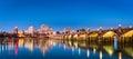 Harrisburg skyline and the historic Market Street Bridge Royalty Free Stock Photo