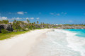 Harrismith beach is one of the most beautiful beaches on the caribbean island of barbados it is a tropical paradise with palms Stock Photos