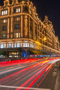Harrods store in london uk with christmas decorations december st view of the formerly owned by mohamed al fayed then sold to Stock Image
