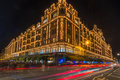Harrods store in london uk with christmas decorations december st view of the formerly owned by mohamed al fayed then sold to Stock Photography