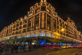 Harrods store in london uk with christmas decorations december st view of the formerly owned by mohamed al fayed then sold to Royalty Free Stock Image