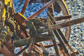 Harrow old and rusty in strict close up Royalty Free Stock Images