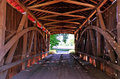 Harry evans covered bridge interior close up of indiana Royalty Free Stock Photos