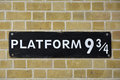 Harry Potter Platform nine and three quarters Royalty Free Stock Photo