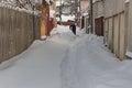 Harsh winter in Bucharest, capital of Romania