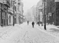 Harsh winter in bucharest romania Royalty Free Stock Images
