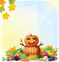 Harvest autumn background contains transparent objects eps Royalty Free Stock Images