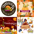Harvest set, organic foods like fruit and vegetables, happy thanksgiving dinner background, vector illustration Royalty Free Stock Photo
