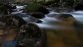 Harz Stream at night Royalty Free Stock Photography