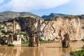 Hasankeyf village on tigris river batman turkey Stock Images