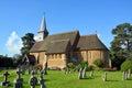 Hascombe Village Church & Graveyard, Surrey, UK. Royalty Free Stock Photo