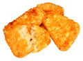 Hash browns pile of cooked potato isolated on a white background Royalty Free Stock Image