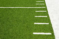 Hash marks on American football field Royalty Free Stock Photo