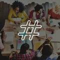 Hashtag Icon Social Media Blog Post Concept Royalty Free Stock Photo